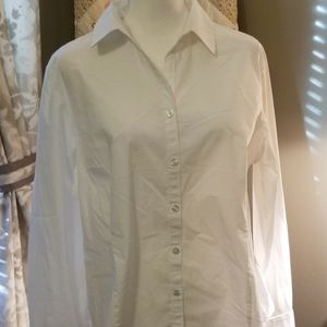 George Women's white button front blouse